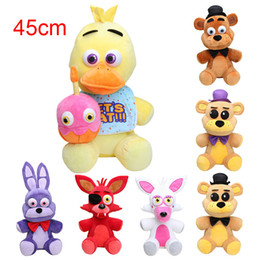 Discount games for kids - NEW! Big Size 45cm FNAF Five Nights At Freddy's Golden Freddy fazbear chica bonnie Mangle foxy Plush Toys Doll for
