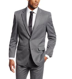 Green Men S Fitted Suit Canada - Simple Suits Men Gray Wedding Suits Grooms Tuxedos Mens Suits Slim Fit Beach Groomsmen Suits (Jacket+Pant+ Tie)