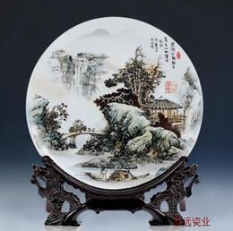 Jingdezhen ceramics pastel blue and white landscape painting decorative plate decoration home decoration & Blue Decorative Plates Online   Blue White Decorative Plates for Sale