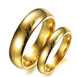 $enCountryForm.capitalKeyWord Canada - ZHF JEWELRY US Size 5 -12 Width 6mm 3.9mm The Tungsten Carbide One Ring of Power Gold   Silver warm love