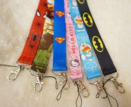 $enCountryForm.capitalKeyWord Canada - Free Shipping Cartoon Superman Super hero Neck Lanyard key chain Mobile cell phone neck straps charms