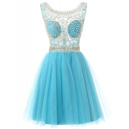 China Real Picture In Stock Jewel Neck Party Dresses Mini Short Beaded Sequin Homecoming Cocktail Evening Prom Dresses cheap cocktail dress stock suppliers