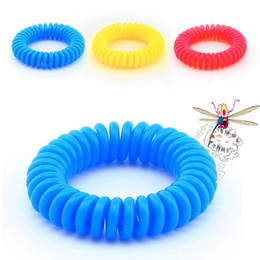 Discount coil bracelets - 1000Pcs lot Mosquito Repellent Bracelet baby Stretchable Elastic Coil Spiral hand Wrist Band telephone Ring Chain Anti-m