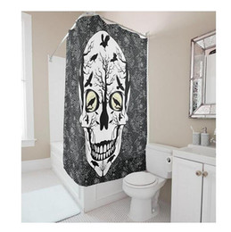 Shower Curtain Diy Canada - Customs 36 48 60 66 72 (W) x 72 Inch (H) Skulls Crows Design Waterproof Polyester Fabric Shower Curtain Bathroom Use DIY Shower Curtain