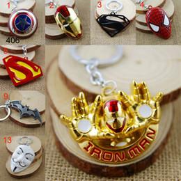 Superhero Keychains Canada - Retail Pack Superhero Avengers Iron Man superman batman spiderman deadpool mask One Direction Zelda Key Chain keyrings bag hangs key rings