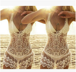 China Fashion Women Crochet Sweater Blouse Beach Bikinis Cover Openwork Lace Mesh Knitted Protective Clothing Beach Dress cheap openwork crochet dress suppliers