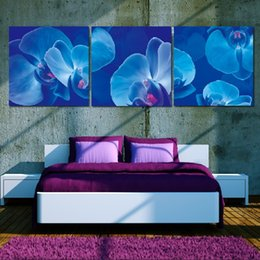 Pictures Decorated Living Rooms NZ - Wall Picture Unframed 3 Pieces Living Room Canvas Prints orchid Abstract painting flowers tree forest grassland LOVE fish sea reef decorate