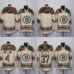 Barato Novo Estilo Hoodies Para Homens-2016 New Style Boston Bruins Hoodies Sweatshirts Men's Blank 4 Bobby Orr 37 Patrice Bergeron 100% Stitched Embroidery Logos Hockey Jerseys