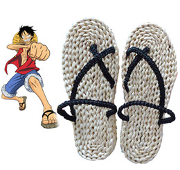 Wholesale monkey d luffy cosplay for sale - Group buy Hot Monkey D Luffy Sandals One Piece Cosplay Straw Zori Waraji Customize For Halloween Cosplay