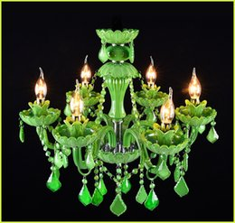 Modern candle glass chandelier nz buy new modern candle glass green crystal chandelier creative glass lamp coffee restaurant candle crystal chandelier bar dining room lampe candle lamp aloadofball Choice Image