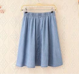 Discount Ladies Knee Length Denim Skirt | 2017 Ladies Knee Length ...