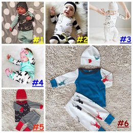$enCountryForm.capitalKeyWord Canada - Baby Boy Girl Set Clothing Christmas Halloween Infant Newborn Skull T Shirt Top+Trouser 2PC Suit Toddler Tracksuit
