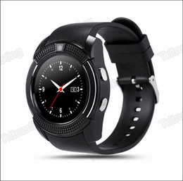 bluetooth smart watch sim Australia - V8 Smart Watch Bluetooth Watches Android with 0.3M Camera MTK6261D Smartwatch for android phone Micro Sim TF card with Retail Package MQ50