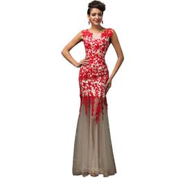 007bc4a6c ... de fiesta largos de encaje 2019 Últimas Elegante negro rojo formal  vestidos de fiesta robe de soiree V-Neck vestidos de baile por encargo  baratos