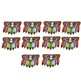 $enCountryForm.capitalKeyWord Canada - 10PCS feather embroidery patches for clothing iron patch for clothes applique sewing accessories stickers badge on clothes iron on patches