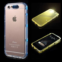 Wholesale 2016 For Iphone Incoming Call Flash LED Light Up Case for iPhone s plus Soft Clear TPU Cover Case