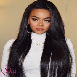 full chinese bang lace wig Canada - Unprocessed hair full lace wigs with bangs silky straight brazilian lace front human hair wigs for black women 130 density