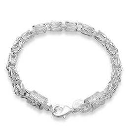 925 silver dragon chain UK - Men Bracelet 925 Jewelry Silver Plated Link Bracelet Fashion Jewelry New Dragon Bracelet Friend Gifts Unisex Bangle Bracelet Christmas Gifts