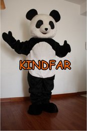 Panda Suit Taille Adulte Pas Cher-Gros-NEW PANDA BEAR Costume Mascot Taille adulte Caractère Halloween Fancy Cartoon Party Dress Carnival Costume
