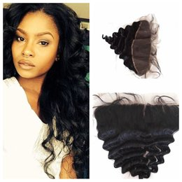 Way part lace frontal online shopping - Cheap x13 Peruvian Lace Frontal Human Hair Full Lace Frontal Closure way part With Baby Hair natural hairline G EASY