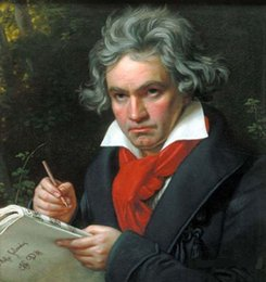 portrait size Australia - Framed Beethoven working, High Quality genuine Hand Painted Portrait Art Oil Painting On Quality Canvas Multi sizes Available Free Shipping