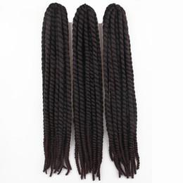 Curly ombre CroChet hair online shopping - 60cm Havana mambo twist crochet braid hair extensions afro kinky synthetic braiding hair jumbo crochet twist box braids hair