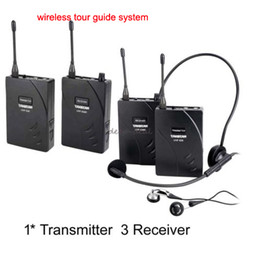 takstar uhf NZ - Takstar UHF-938 Professional UHF Wireless Tour Guide System for Tour Guiding Teaching Travel Field Interpretation 1Transmitter 3 Receivers