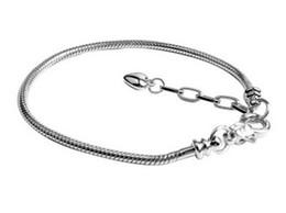925 3mm Bracelets Canada - Wholesale 925 Sterling SilverCharm Bracelets 3mm Snake Chain Labster Fit Pandora Charms Bead Bracelet Fashion Jewelry DIY Gift For Men Women
