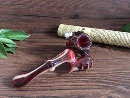 420 tubos de vidro criativo em forma de dentro para fora da tubulação de vidro sherlock copo de vidro handpipe fumar bubblers tubos de água de vidro bongos de vidro venda por atacado