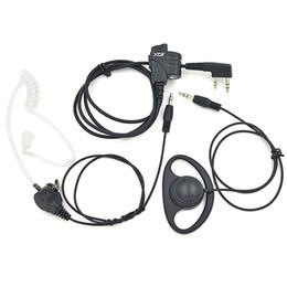Écouteur de tube acoustique de casque d'utilisation de double pour la radio portative de Kenwood Baofeng UV-5R BF-888S BF-UVB2 plus GT-3 UV-B5