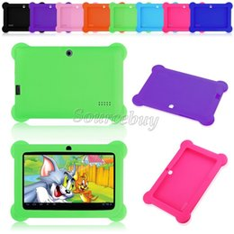 cheap android tablet china NZ - Cheap Anti-Dust Kids Child Soft Silicone Rubber Gel Case Cover For Q88 Q8 A33 7 Inch Android Tablet PC Drop resistance Kids Gifts