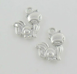 $enCountryForm.capitalKeyWord Canada - Wholesale 200pcsTibetan Silver Fox Charms Pendant For Bracelet 15x14mm Free Ship
