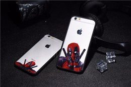 Super heroeS iphone caSe online shopping - 3D Super Cool Marvel Hero Deadpool Coque Fundas Black Soft Silicone Case For iPhone S S Plus SE Cover Case