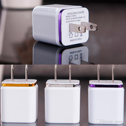 Wholesale cell phone usb travelling wall chargers EU US metal dual port AC wall charger USB power adapter DHL