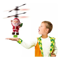 $enCountryForm.capitalKeyWord Canada - Santa Claus LED Flashing Light Toys Electric Infrared Sensor Flying Ball RC Helicopter Quadcopter Drone Toy Kids Christmas Gifts