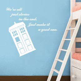 Art Design Home Decoration Cheap Vinyl Popular Doctor Who Wall Sticker  Removable House Decor Famous Cartoon Police Box Decals Part 80