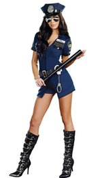 Costume D'officier Sexy Pas Cher-Sexy Pretty Hot Sell Blue Cop Costume d'Halloween Costume Costume Costume Costume Policier Police Uniforme L1469