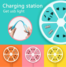 Discount outlet tablet - Lemon Socket MULTI FUNCTION USB Plug Electrical Outlet Power Charger station Socket for mobile tablet 1.8m extension cab