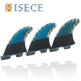 De haute qualité FCS2 Palmes G5 Carbone Bleu Surf Fins FCS II Quilhas Surfboard Fin Propulseur Surfboard Fin G5 Set Up en Solde
