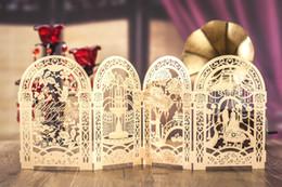 Gold benutzerdefinierte personalisierte Wishmade Laser geschnitten Hochzeitseinladungskarten Kit, mit Umschlägen, Siegeln, personalisiertem Druck, für die Hochzeit