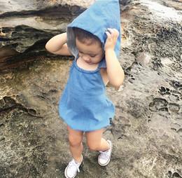 $enCountryForm.capitalKeyWord Canada - 2016 Summer Baby Rompers Cute Sleeveless Fashion imitation Denim Romper Infant Toddler Clothing for Newborn Summer Outfit