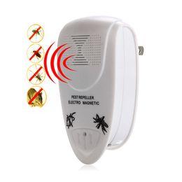 Электрический отпугиватель вредителей ультразвуковой электрический крыса мышь отпугиватель главная борьба с вредителями насекомых комаров убийца грызунов вредителей ЕС / США Plug