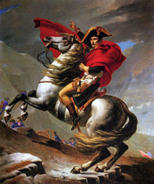 $enCountryForm.capitalKeyWord NZ - Napoleon Crossing the Alps on Gray Horse,Free Shipping,Hand-painted Portrait Art oil painting canvas For Wall decor in any size customized