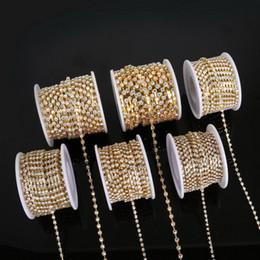$enCountryForm.capitalKeyWord Australia - SS6-18 10yard Rhinestone Chains Copper Claw White AB Glass Rhinestone DIY Jewelry Craft Apparel Sew On Accessoires
