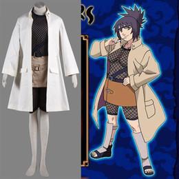 Japanese Woman Canada - Hot Japanese Anime Theme Costume NARUTO Mitarashi Anko Cosplay Costume For Women Trench Skirt Underwear Halloween