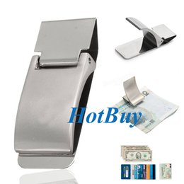 $enCountryForm.capitalKeyWord Canada - Stainless Steel Silver Clamp Money Clip Wallet Credit Card ID Cash Holder Gift #3863