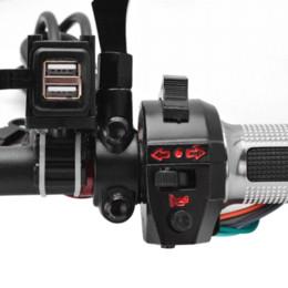 Ingrosso Caricabatteria da auto impermeabile per moto 12V 12V 2.1A Dual USB Port Power per Harley Ducati Buell Victory