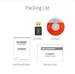 Comfast Wifi Usb Adapter Canada - Wholesale- Hot ,COMFAST CF-915AC USB Network Card 600Mbps Mini Wireless Dual Band 802.11AC 2.4GHZ 5.8GHZ USB WiFi AC Adapter & WI-FI dongle
