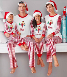 Father Daughter Pajamas NZ - Christmas Family Matching Clothing Sets Pajamas Clothing Mother Daughter Father Son Clothes Christmas Pajamas Family Clothing Sets LA539