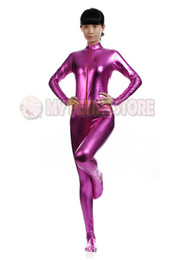 $enCountryForm.capitalKeyWord Canada - (jxy002) shiny metallic zentai Suit for Men women front open halloween performance zentai Catsuit costume